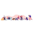 people spending time with pets at home vector image vector image