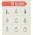 perfume icon set vector image vector image