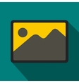 Photo frame icon flat style vector image vector image