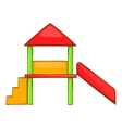 Playhouse with slide icon cartoon style vector image