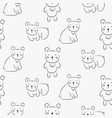 polar bear cute seamless doodle pattern vector image vector image