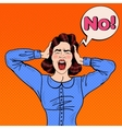 Pop Art Angry Frustrated Woman Screaming vector image vector image