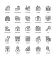 real estate line icons set 5 vector image