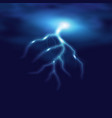 realistic lightning on checkered background vector image vector image