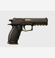 realistic modern handgun on white vector image vector image