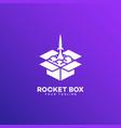 rocket box logo vector image