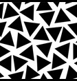 scattered black triangles on a white background vector image