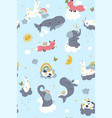 seamless pattern for nursery with cute vector image