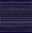 seamless pattern with ethnic tribal hand-drawn vector image