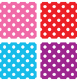 seamless polka dots sets vector image