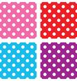 seamless polka dots sets vector image vector image