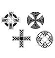set celtic crosses vector image