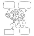 set of brain cartoon vector image