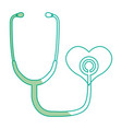 silhouette medical stethoscope to check cardiac vector image vector image