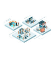 smart manufacturing production processes concept vector image vector image