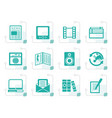 stylized media and information icons vector image vector image