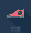 Stylized sneakers Outline urban shoes with long vector image vector image