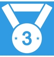 Third medal icon from Competition Success vector image vector image