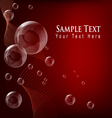transparent bubble red background vector image vector image