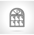 Vintage arched window icon vector image