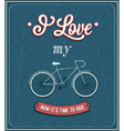 Vintage background with bicycle vector image vector image