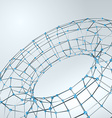 Wireframe polygonal element 3D Torus with Diamonds vector image vector image