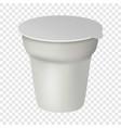 yogurt box mockup realistic style vector image vector image