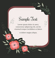 greeting card with flowers in vintage style vector image