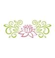 Lotus sketch Plant motif Flower design elements vector image