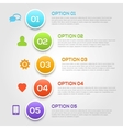 Modern infographics options template vector image