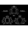 Heraldic logo signs set vector image