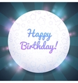 Beautiful Birthday card template vector image