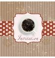 Retro coffee invitation Card vector image