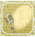 Retro microphone background vector image