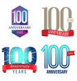 100 Years Anniversary Symbol vector image vector image