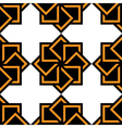 Abstract seamless pattern black white orange vector image vector image