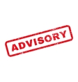 Advisory Text Rubber Stamp vector image vector image