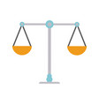 antique balance symbol vector image