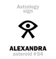 astrology asteroid alexandra vector image vector image