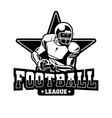 badge american football black and white