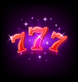 big win slots red 777 banner casino on purple vector image vector image