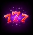 Big win slots red 777 banner casino on purple