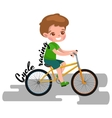 Boy cycling racing kids sport physical activity vector image vector image