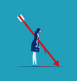 business people shot with arrows business crisis vector image