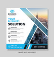 business post banner template social media vector image vector image