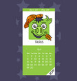calendar for april 2019 vector image vector image