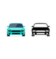 car front view flat icon parking vector image