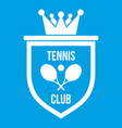 coat of arms of tennis club icon white vector image vector image