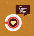coffee delicious symbol flat vector image
