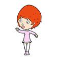 comic cartoon pretty woman vector image vector image